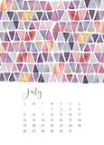 jenny bova desk calendar 2020 july
