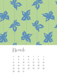 jenny bova desk calendar 2020 march