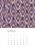 jenny bova desk calendar 2020 october