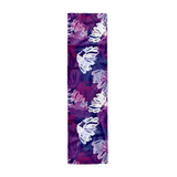 navy blue purple and white womens silk crepe scarf show flat