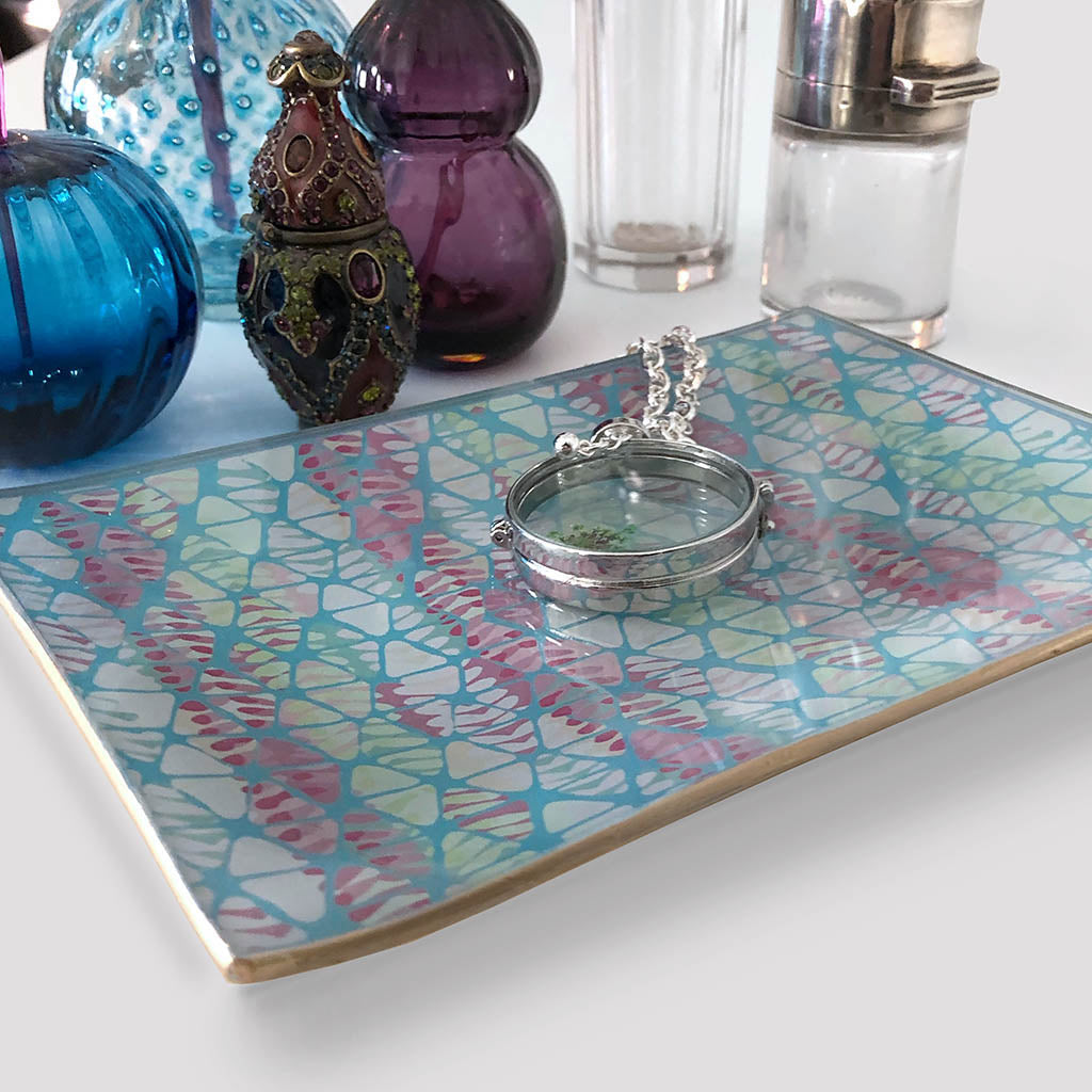 Rectangular Glass Catchall Trays