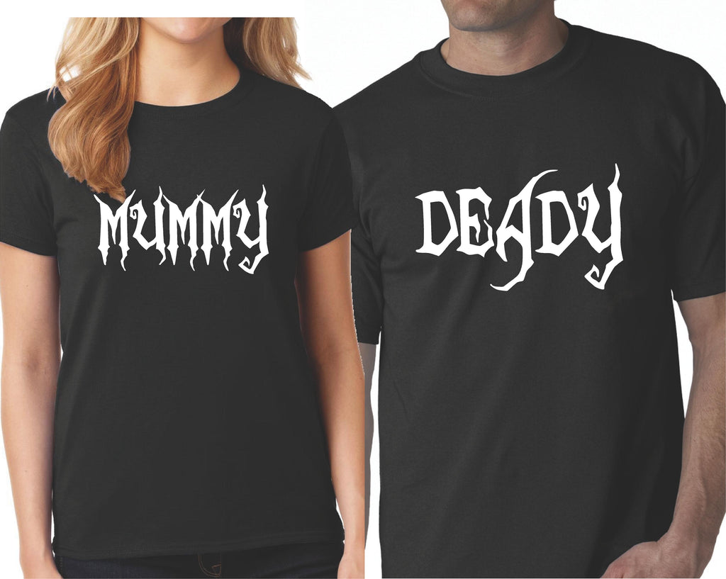 Halloween Matching Couple Shirts Cute Mummy And Deady Couples