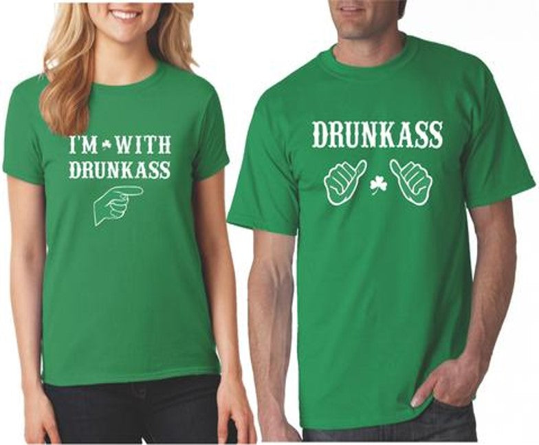 3e82864c8 Funny St Patrick's Day Matching Couples Shirts Green - Our T Shirt Shack