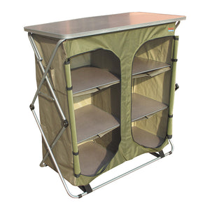 Bushtec Sierra 4 Shelf Double Camp Cupboard