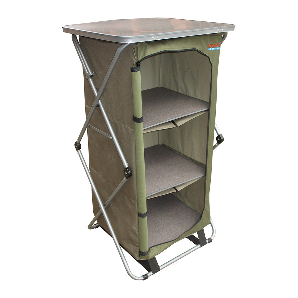 Bushtec Sierra 4 Shelf Single Camp Cupboard