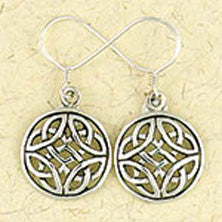 Celtic Weave Dangle Earrings - Sterling Silver