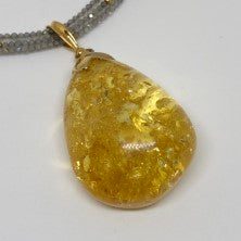 Lemon Amber Necklace