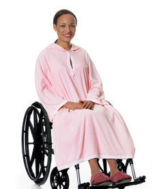 Terry Shower Cape For Women Or Men - Terry Wheelchair Poncho