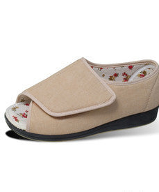 Womens VELCRO¾À_ Extra Wide Deep Shoes Sandals Or Slippers Open Toed Indoor Outdoor With VELCRO¾À_ Brand Straps