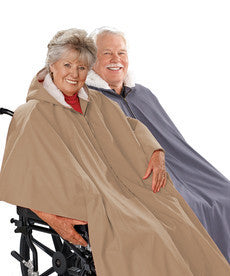 Mens Winter Wheelchair Cape & Womens Winter Warm Wheelchair Cape Clothing - Wheelchair Poncho Lined Cape