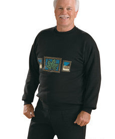 2 Xl - 4 Xl Plus Size Mens Regular Fleece Top - Long Sleeve