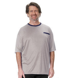 Adaptive Tshirt Top For Men - Disabled Adults - Back Snap Shirts