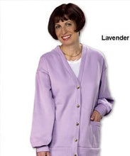 Womens Fleece Cardigan - Two Pocket Button Front Cardigans