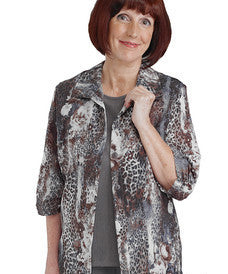 Womens Adaptive Open Back Fooler Blouse - Handicap Clothing - Wrap Back