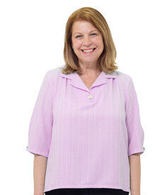 Adaptive Open Back Blouse For Women - Solid Color Adaptive Blouse