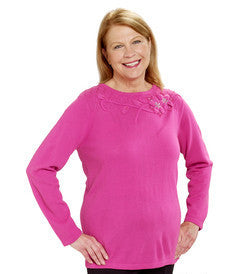 Adaptive Sweater Top For Ladies - Wheelchair Fashion For Disabled Adults