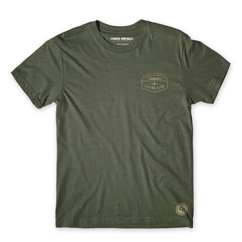 Armbar Flying Club Tee - Military Green