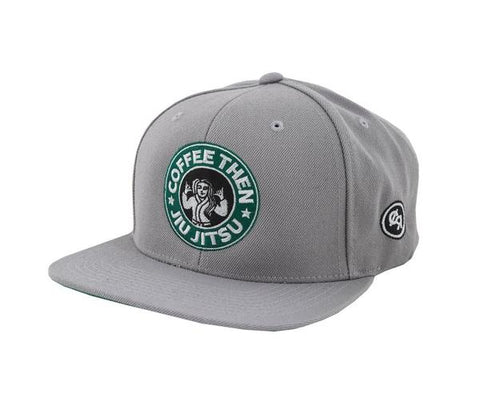Coffee Snapback Hat - Grey