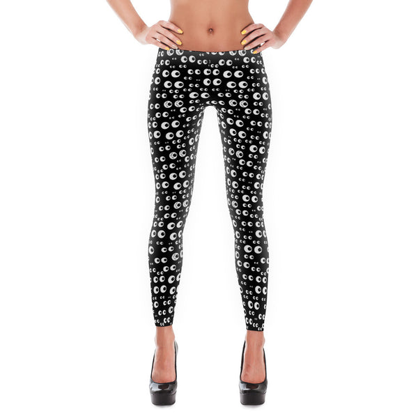 Not Afraid Eyeball Leggings - Lifted Apparel and More