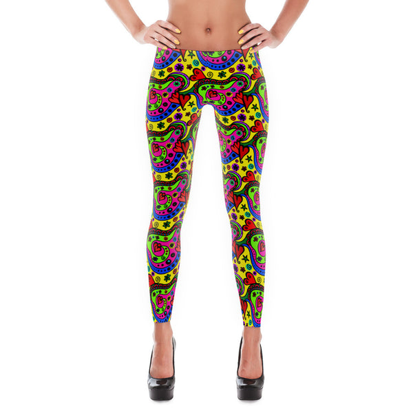 Retro Love Leggings - Lifted Apparel and More