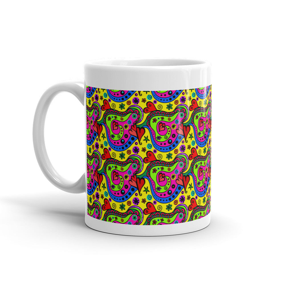 Retro Love Mug - Lifted Apparel and More