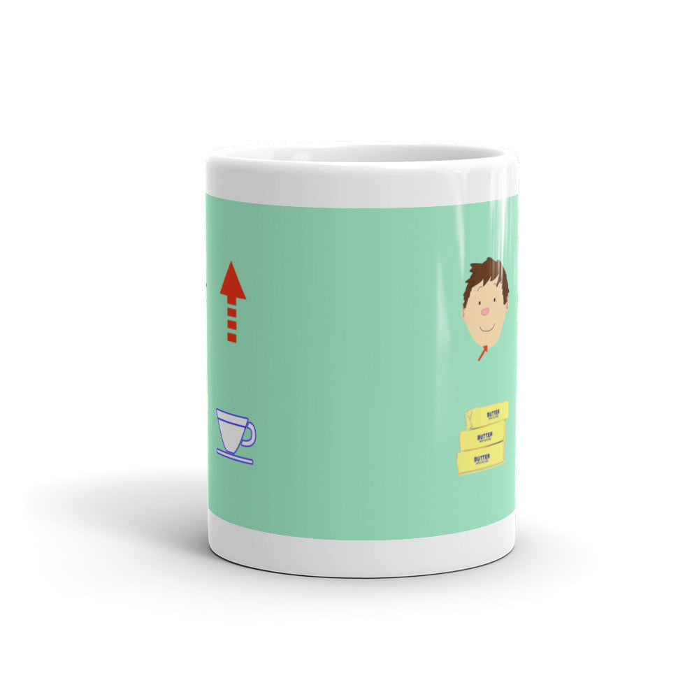 Chin Up Buttercup Mug - Lifted Apparel and More