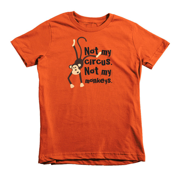 Kids Not My Monkeys Tee - Lifted Apparel and More