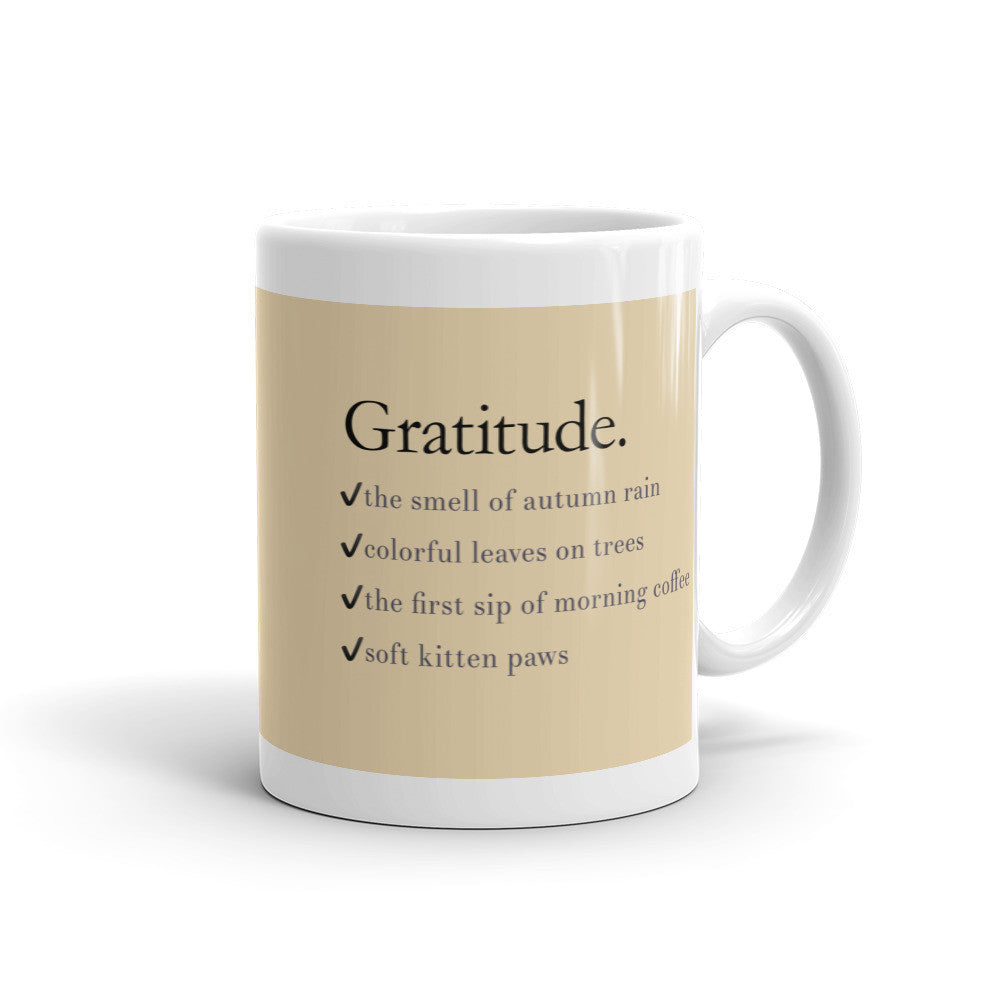 Gratitude List Mug - Lifted Apparel and More