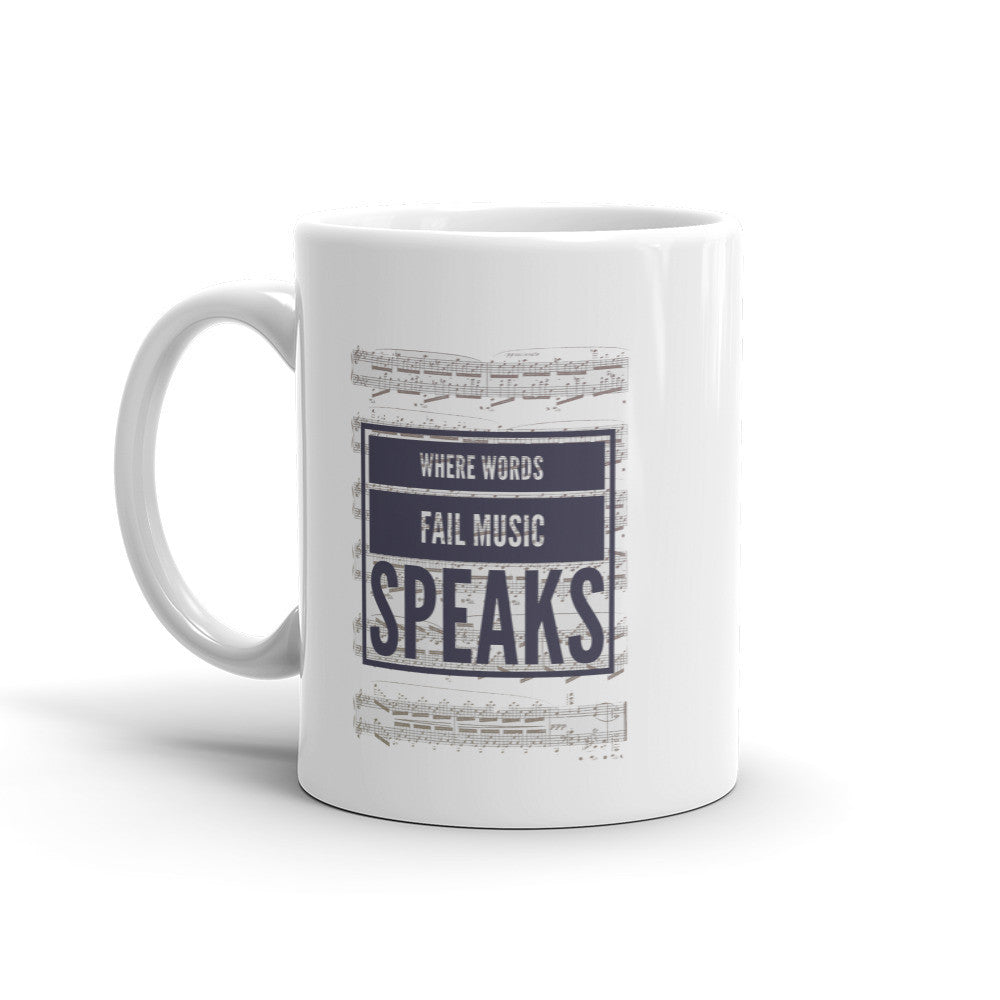 Music Speaks Mug - Lifted Apparel and More