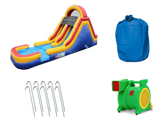 Moonwalk USA Commercial Inflatable Water Slide Obstacle Piece