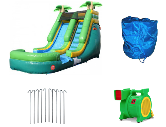13'H Inflatable Water Slide Wet n Dry W-351 product images - The Outdoor Play Store