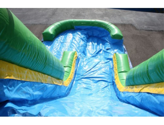 13'H Inflatable Slide Wet n Dry from top of slide