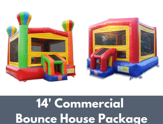 14' Commercial Bounce House Package with B-302 and B-311