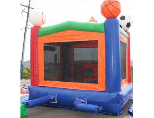 Commercial Bounce House - 14' Sports Module Commercial Bounce House - back side