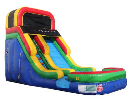 16'H Rainbow Inflatable Slide Wet/Dry
