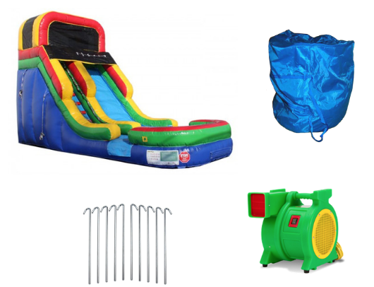 16'H Rainbow Inflatable Slide Wet/Dry product images