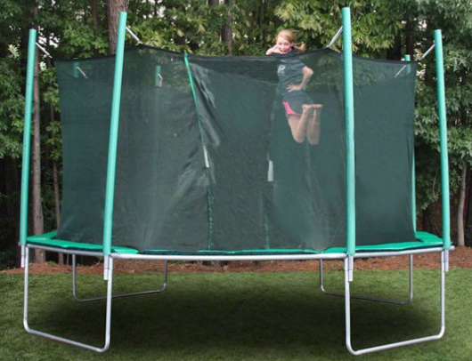16' sports tramp extreme octagon trampoline with detachable enclosure