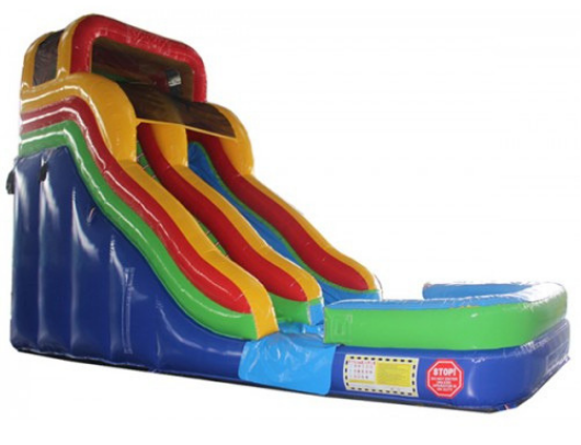 18'H Double Dip Slide - Rainbow