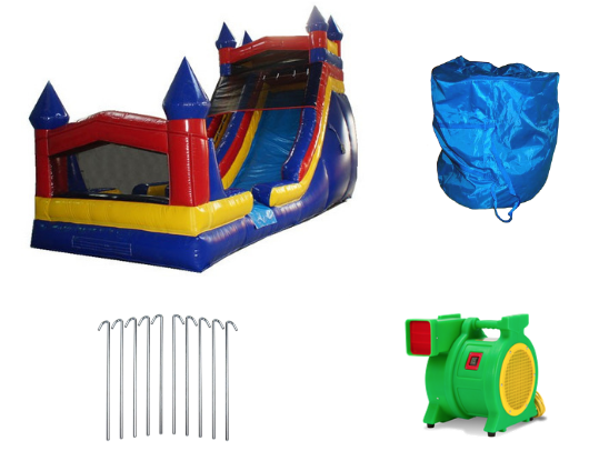 18'H Inflatable Slide Wet n Dry W-242 product images