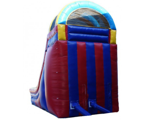 18'H Rainbow Screamer Slide - back side of unit