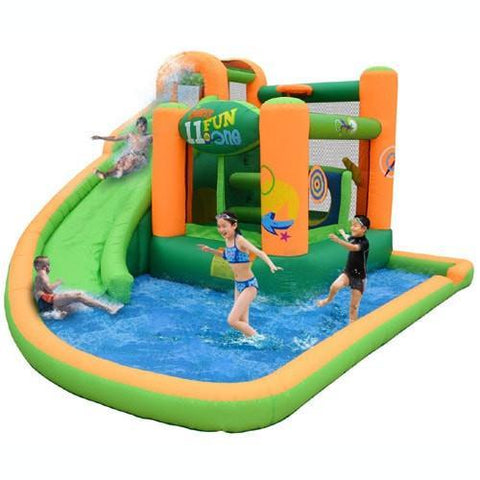 kidwise endless fun residential bounce house with water slide