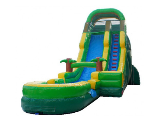 22'h palm tree screamer inflatable slide wet n dry