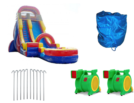 22'h screamer inflatable slide with blowers and accessories