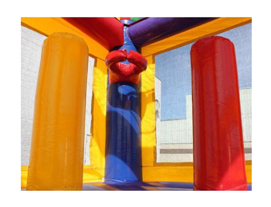 14' Commercial Bounce House with Basketball Hoop
