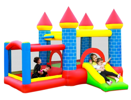 ALEKO Bounce House Mega Castle kids playing
