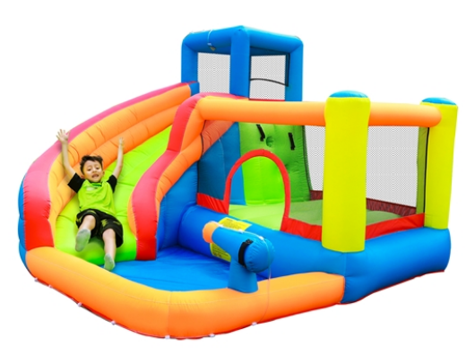 ALEKO Bounce House with Water Sprayer, Slide and pool - image 1