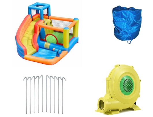 ALEKO Bounce House with Water Sprayer, Slide and pool - product images