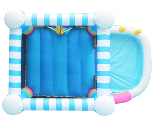 ALEKO Bounce House with pool - rainbow - aerial view