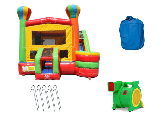 Balloon Commercial Bounce House 4-in-1 Combo