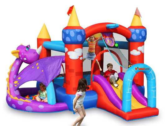 Bounceland Dragon Castle Bounce House with Ball Pit